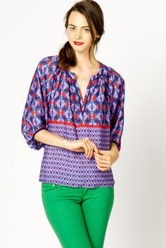 Purple Peasant Top