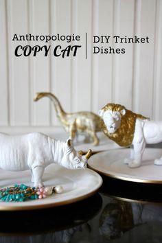 Anthropology copy cat DIY trinket dishes.