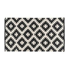Tesco direct: Homescapes Zurich Handwoven Black and White 100% Cotton Geometric Pattern Kilim Rug, 90 x 150 cm