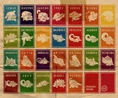 Cool Wayang Stamps by Didik Pratikno | ini seru juga lho @_masjo