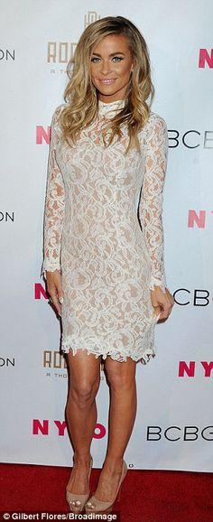 cute lace dress & heels.