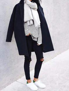Look Marinière noir & blanc