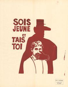 Atelier Populaire, ex-école des Beaux Arts, affiche, Paris, 1968