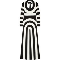 Marc Jacobs Striped scuba-jersey maxi dress ($2,500) ❤ liked on Polyvore