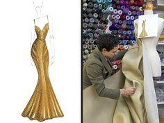 Zac Posen Gold Dress Magnum & JOE