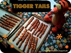 Serve your kids some sweet and salty treats that look like Tigger's bouncy tail. | 28 Insanely Delicious Recipes Inspired By Disney