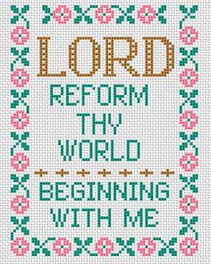 Lord Sampler free cross stitch pattern