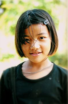 Pretty young Thai girl, from the hills of Northern Thailand.