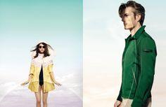Photographer: Alistair Taylor Young Models: Johanna (woman) and Benoit (men) Stylist: Chloé Dugast Make up: Eny Whitehead Hair: Valentin Mordacq Location: Paris Head Creative Director: Tho Van Tran/Air Paris
