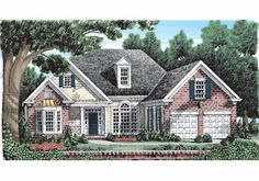 Traditional Style House Plan - 3 Beds 2 Baths 1795 Sq/Ft Plan - This traditional design floor plan is 1795 sq ft and has 3 bedrooms and has 2 bathrooms. Best House Plans, Small House Plans, House Floor Plans, Cottage House Plans, Cottage Homes, Affordable House Plans, Traditional House Plans, Traditional Design, American Houses