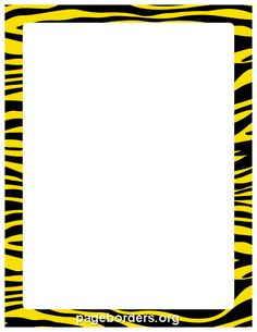 Printable yellow and black zebra print border. Use the border in Microsoft Word or other programs for creating flyers, invitations, and other printables. Free GIF, JPG, PDF, and PNG downloads at http://pageborders.org/download/yellow-and-black-zebra-print-border/