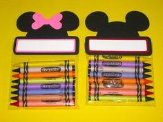 Mickey & Minnie Mouse  juego de 10 Crayon por CharminglySassy