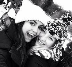 Vampire Diaries Stars Candice Accola and Nina Dobrev Go Sledding (PHOTO)