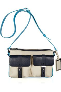 WANT THIS, except its like $500, soooo cute though. MARC BY MARC JACOBS  Werdie color-block leather shoulder bag