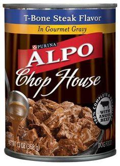 Purina Alpo Chop House T-Bone Steak Flavor in Gourmet Gravy Wet Dog Food, 13 Oz.