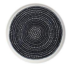 Assiette Siirtolapuutarha ronde Ø 20 cm Siirtolapuutarha - Blanc & noir - Ø 20 cm - Marimekko                                                                                                                                                      Plus