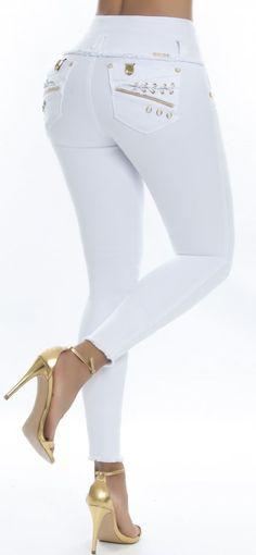 Jeans levanta cola REVEL 56177 Blanco