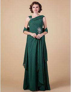 Vestido de Madrina Verde de Gasa con Bolero @ Vestidos de fiesta baratos