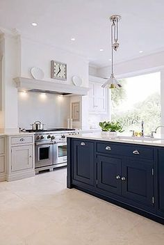 tomsfashion$9.9 on | Blue kitchen island, Bespoke kitchens and Bespoke