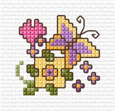LJT Simple Cross Stitch design part 9 — Blog — Lesley Teare 123 Cross Stitch, Cross Stitch Cards, Simple Cross Stitch, Cross Stitch Samplers, Cross Stitch Animals, Cross Stitch Designs, Cross Stitching, Cross Stitch Patterns, Butterfly Cross Stitch