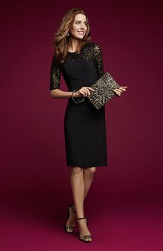 We love lace, especially when it's on a classic LBD.