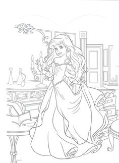 The Little Mermaid Free Kids Coloring Pages, Mermaid Coloring Pages, Printable Adult Coloring Pages, Animal Coloring Pages, Coloring Book Pages, Coloring Sheets, Disney Princess Coloring Pages, Disney Princess Colors, Disney Colors