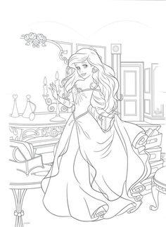 la Belle et la Bete 2017 coloriage