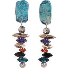 Iosselliani Multicolor Rock Short Stack Earrings