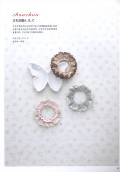 Crochet lace vol 4 2013 by Stellaria Crochet Hair Accessories, Crochet Hair Styles, Crochet Collar, Crochet Lace, Crochet World, Crochet Things, Hair Bows, Crochet Earrings, Pearl Earrings