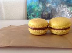 Community member Jyoti shared her Macarons with passion and milk chocolate ganache. Milk Chocolate Ganache, Macaroons, Sweet Treats, Community, Passion, Cupcakes, Bread, Dishes, Cooking