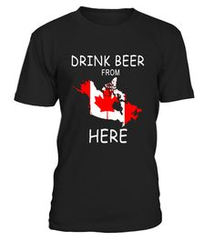 """# Drink Beer from Canada Flag Map T Shirt for Canadian Gifts .  Special Offer, not available in shops      Comes in a variety of styles and colours      Buy yours now before it is too late!      Secured payment via Visa / Mastercard / Amex / PayPal      How to place an order            Choose the model from the drop-down menu      Click on """"Buy it now""""      Choose the size and the quantity      Add your delivery address and bank details      And that's it!      Tags: Perfect for Birthdays…"""