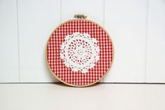 Shabby Chic Christmas Embroidery Hoop Art