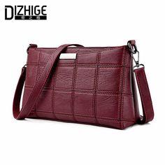 Dizhige бренд Мода 2017 г. нить через плечо сумки плед PU кожаные сумки женские сумки дизайнерские сумки женские SAC Весна
