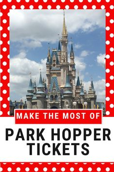 Make the most out of your park hopper tickets at Walt Disney World. Read these five tips from a Disney expert on maximizing your park hopper tickets. Disney On A Budget, Disney Vacation Planning, Orlando Vacation, Disney World Planning, Disney World Vacation, Disney World Resorts, Disney Vacations, Walt Disney World, Vacation Ideas