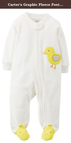 Carter's Graphic Fleece Footie (Baby) - Duck-9 Months. Carter's Graphic Fleece Footie (Baby) - Duck Carter's is the leading brand of children's clothing, gifts and accessories in America, selling more than 10 products for every child born in the U.S. Their designs are based on a heritage of quality and innovation that has earned them the trust of generations of families. Zips from chin to ankle for easy on and off. Worry-free tab keeps zipper away from baby's chin. A perfect…