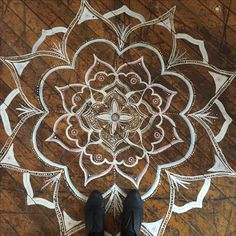 Mandala floor art