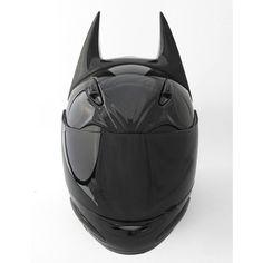 Bat-Helmet Custom Motorcycle Helmet For The Ultimate Batman Fan ❤ liked on Polyvore featuring helmets, accessories e hats