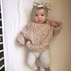 Fashion Look Featuring Hudson Baby Girls' Accessories and First Impressions Boys' Pants by – ShopStyle Baby Mädchen Pullover Outfit. Neutral Baby Clothes, Winter Baby Clothes, Baby Winter, Cute Baby Clothes, Baby Clothes For Girls, Cute Baby Outfits, Summer Outfits, Cute Baby Stuff, Babies Clothes
