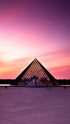 Sunset, Louvre, Paris, France