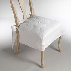 Fundas para sillas con lazada y botones en el asiento                                                                                                                                                                                 Más