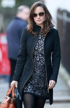 Love that coat for fall or winter. Totally can swap the dress  under for a sweater dress