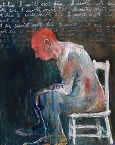 Mel McCuddin, Cruel and Unusual Punishment 2006, oil on cardboard