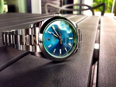 I can't decide if I need to be talked into or out of this.  Rolex Milgauss 116400GV Z-Blue - Rolex
