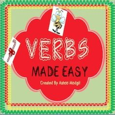 Grammar Fun with Verbs Made Easy can be used in your grammar lessons to teach or review action verbs and helping verbs. It includes Worksheets to Find, Underline and Circle action and helping verbs Fill in the blank worksheets Match and Paste Mini Book Activity Posters for helping and action verbs