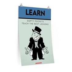 Learn Monopoly Poster - 24″ × 36″