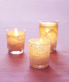 Lacey candle holders make the perfect romantic gift.