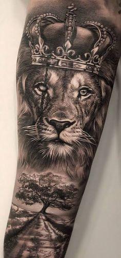 Lion Forearm Tattoos, Lion Head Tattoos, Mens Lion Tattoo, Forarm Tattoos, Forearm Tattoo Men, Tatoos, Animal Sleeve Tattoo, Lion Tattoo Sleeves, Best Sleeve Tattoos