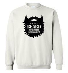 nice Fear the Beard Sweatshirt Check more at https://crazeline.com/product/fear-the-beard-sweatshirt-3/
