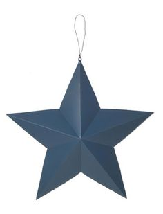 3D Country Blue Metal Stars
