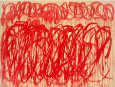Cy Twombly, Untitled VIII (Bacchus), 2005 tag: red